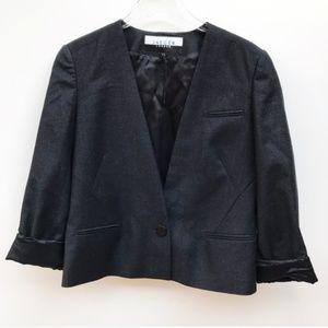 Jaeger 100% Virgin Wool Blazer Jacket Black 12